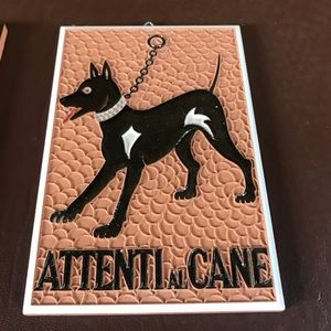 Other - Terra cota wall hanging- Doberman made in Italy
